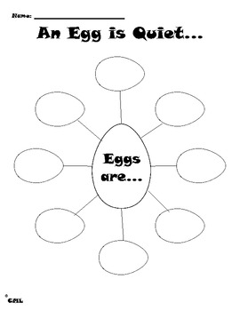 An Egg is Quiet Writing and Graphic Organizer