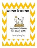 An Egg is an Egg Supplemental Materials Reading Street