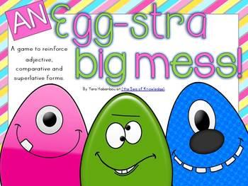 An Egg-stra Big Mess! Comparative & Superlative Adjectives {K-G1}
