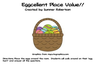 An Eggcellent Place Value Hunt