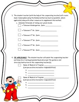 An Elem. Music Teacher's Guide/Checklist To Hosting A Student Teacher