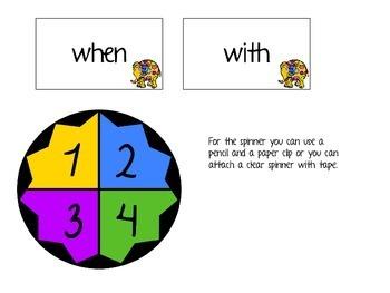 An Elephant Remembers a Kindergarten Sight Word Game