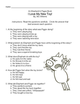 An Elephant and Piggie Book: I Love My New Toy! by Mo Willems