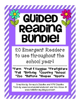An Emergent Guided Reading Bundle - 20 Books!