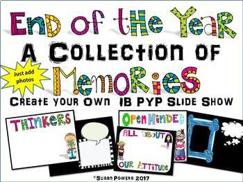 An End of the Year Collection of Memories Editable Slides Presentation IB PYP