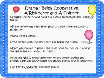 An End of the Year Drama Circle Activity