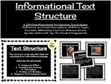 An Introduction to Text Structure:  Power Point Presentation