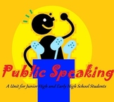 An Engaging Public Speaking Unit (Differentiated, Common Core Aligned)