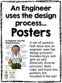 An Engineer Uses the Design Process...Color and Black & White Posters