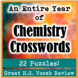 An Entire Year of High School Chemistry Crossword Puzzles (22 Crosswords!)