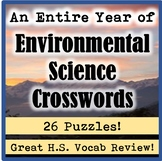 An Entire Year of High School AP/General Environmental Science Crossword Puzzles