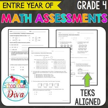 4th Grade Math TEKS Assessments