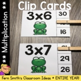 An Entire Year of Multiplication 0 to 12 Facts Clip Cards Bundle