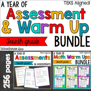 TEKS Math Assessments and Warm Ups 4th Grade