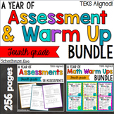 TEKS Math Assessments and Warm Ups 4th Grade