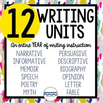 An Entire Year of Writing - 12 Fun, Engaging, and Educatio