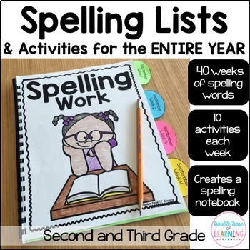 An Entire Years Worth of Spelling Words and Activities BUNDLE: 2nd and 3rd Grade