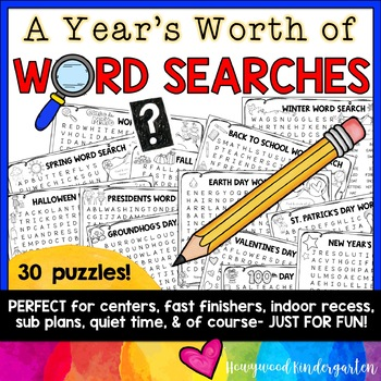 An Entire Years Worth of WORD SEARCHES!