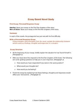An Essay Base Novel Study
