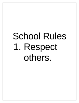An Example of My Classroom Rules