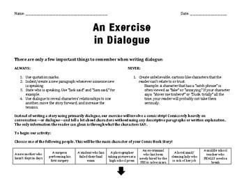 An Exercise in Dialogue