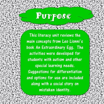 An Extraordinary Egg Unit for Special Education
