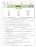 """An """"Eyes of Nye"""" - Cloning –EN04- Worksheet, Answer Sheet, and Two Quizzes."""