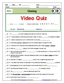 Printables of Bill Nye Cloning Worksheet Answers - Geotwitter Kids ...