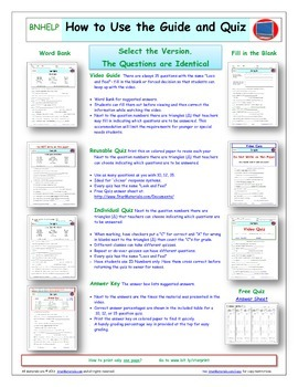 """An """"Eyes of Nye"""" Sports  -EN06- Worksheet, Answer Sheet, and Two Quizzes."""
