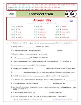 """An """"Eyes of Nye"""" - Transportation – EN11 - Worksheet, Ans"""