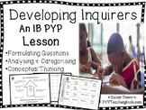 IB PYP Developing Research Skills Formulating Questions Di
