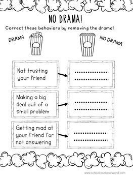 An INTERACTIVE Lesson on Being a Drama-Free Friend, Grades 4-6