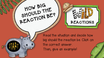 An INTERACTIVE Guidance Lesson on How Big Are My Reactions, Grades 2-3