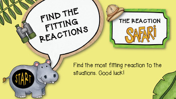 An INTERACTIVE Guidance Lesson on How Big Are My Reactions, Grades 4-6