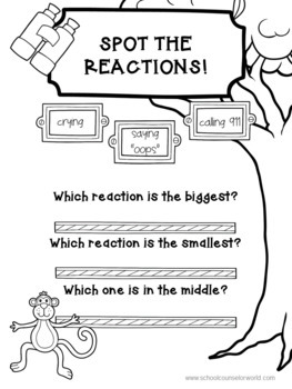 An INTERACTIVE Guidance Lesson on How Big Are My Reactions, Grades K-1