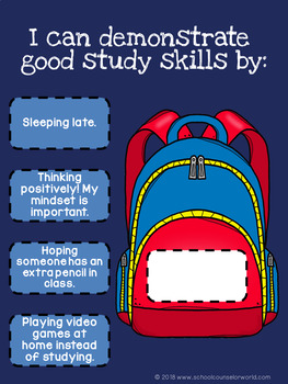 An INTERACTIVE Lesson on Good Study Habits, Grades 2-3