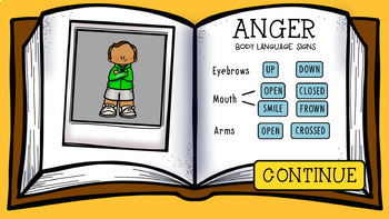 An INTERACTIVE Lesson on What My Body Language Tells My Friends, Grades 4-6