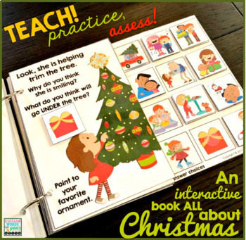 An INTERACTIVE book All About Christmas {with WH- questions}