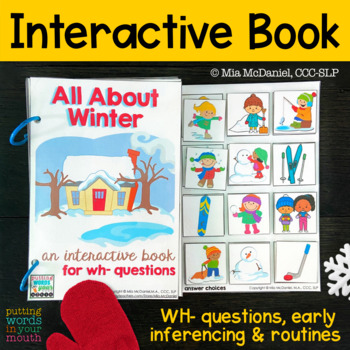 INTERACTIVE book All About Winter {with WH- questions}