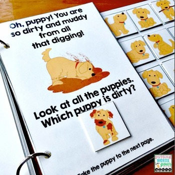 PUPPIES Interactive Book {for WH-questions & basic concepts}