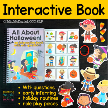 HALLOWEEN Interactive Book {for WH- questions & language skills}