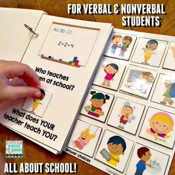 An INTERACTIVE book All About School {with basic WH- questions}