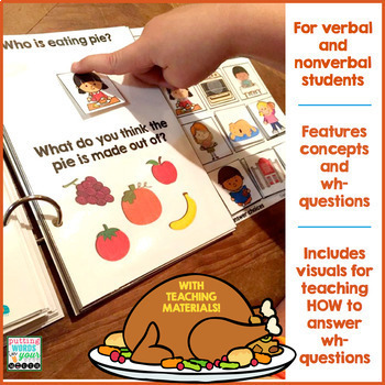 THANKSGIVING Interactive Book {for WH- questions & language skills}