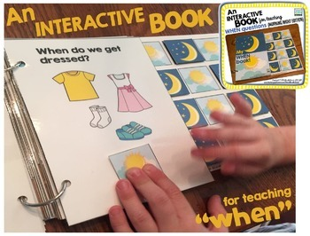 """An INTERACTIVE book (and more) for teaching """"WHEN"""" questions!"""