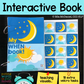 "An INTERACTIVE book (and more) for teaching ""WHEN"" questions!"