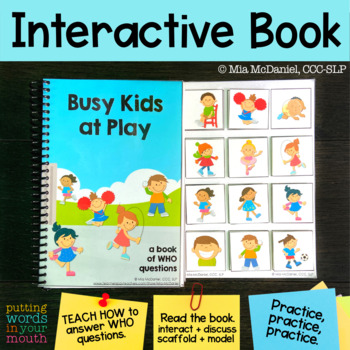 An INTERACTIVE book for WHO questions & actions!