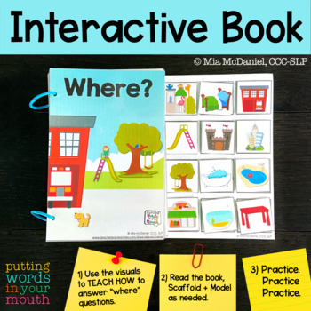 An INTERACTIVE book for addressing answering WHERE questions!
