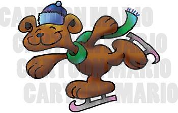 An Ice Skating Bear