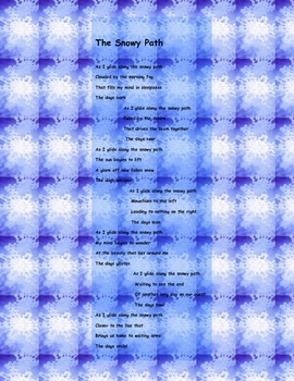 An Iditorod Poem