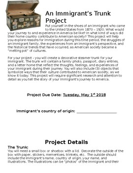 An Immigrant's Trunk Project